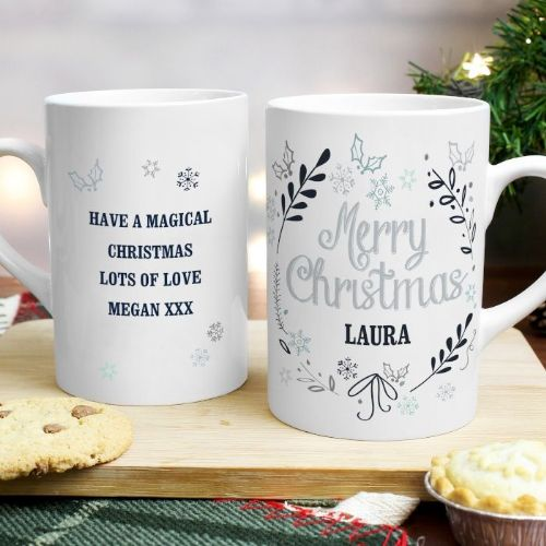 Personalised Christmas Frost Slim Mug